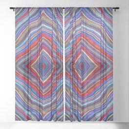 Wild Wavy Diamonds 12 Sheer Curtain