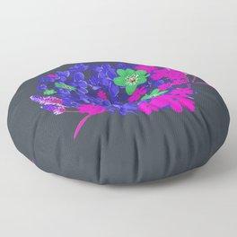 Floral pattern tropical purple Floor Pillow