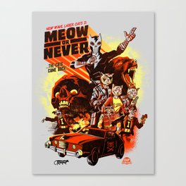 New Wave Laser Cats 2: Meow or Never Canvas Print