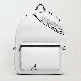 Humpback Whale Drawing Side Backpack