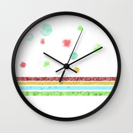 Pastel Bubbles Wall Clock