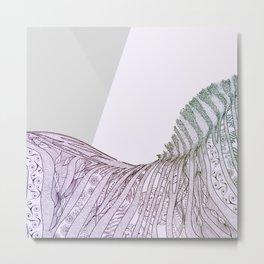 Colorful Boho Zebra Design Metal Print