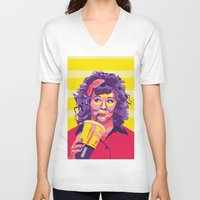 melissa smith V-neck T-shirts featuring Melissa McCarthy by Rudi Rodebush