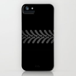 Black Tyre Marks iPhone Case