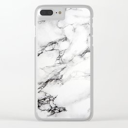 White Marble Iphone Case Clear iPhone Case
