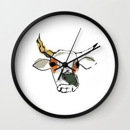 This is the cow with the crumpled horn... Wall Clock
