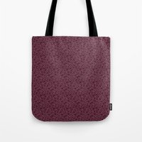 burgundy Tote Bags featuring Burgundy by Lisi Fkz