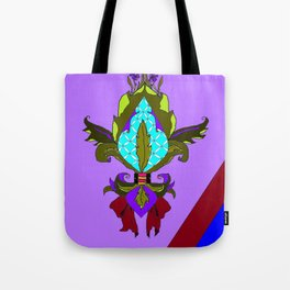 Fleur de lis with Maroon Ribbon and Bow Tote Bag