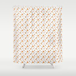 Mesozoic Extinction Event Pattern Shower Curtain