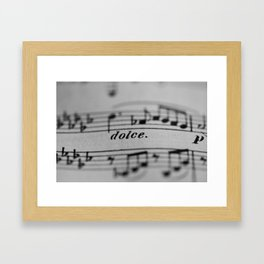 The Sweetness of Life #music#dolce#decor Framed Art Print