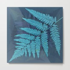 From the forest - light blue on lavender Metal Print