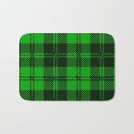 Green Tartan Wool Material Bath Mat