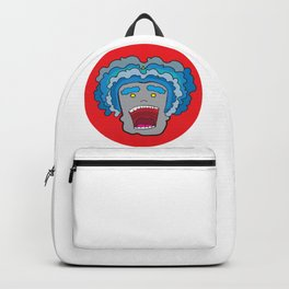 Blue haired waves Backpack