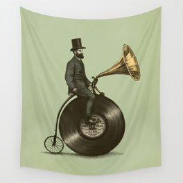 Music Man (Green Option) Wall Tapestry