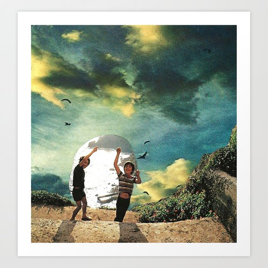 laboratory in the sky... (2) Art Print