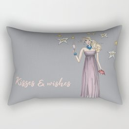 New year's eve kisses watercolor Rectangular Pillow