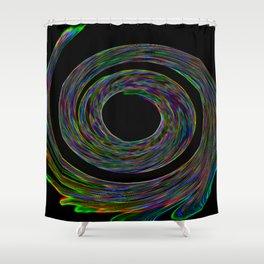 Silent Spiral Shower Curtain