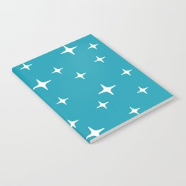 Mid Century Modern Star Pattern 443 Turquoise Notebook