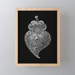 Heart of Viana-Portuguese filigree-Jewellery Framed Mini Art Print