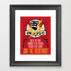 Join The Resistance Framed Art Print
