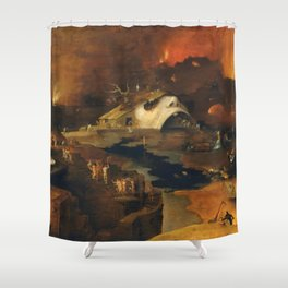 Descent Into Hell, Right Side, By Follower Of Hieronymus Bosch, Circa 1550 Shower Curtain