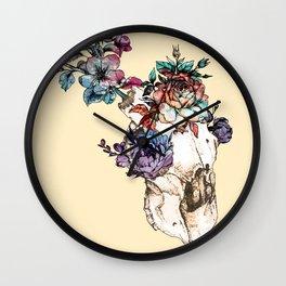 Blooming Skull Wall Clock