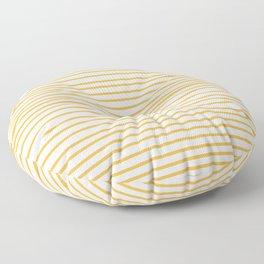 Yellow stripes on white  Floor Pillow