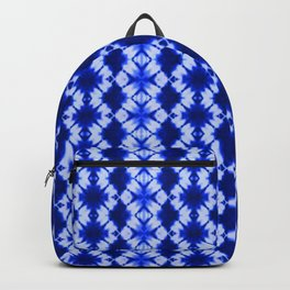 indigo shibori print Backpack