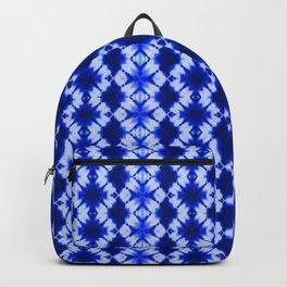 indigo shibori print Backpack