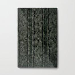 Green plait sweater cloth texture Metal Print
