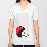 libra V-neck T-shirts featuring Libra by Bree Stillwell Craft