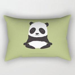 Mindful panda levitating Rectangular Pillow