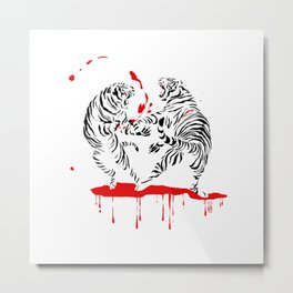 Tora Tora! // (tiger fight) Metal Print