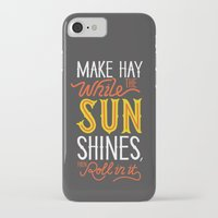 sunshine iPhone & iPod Cases featuring Sunshine by Wharton