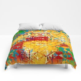 6759s-KMA The Woman in the Stained Glass Sensual Feminine Energy Emerging Comforters
