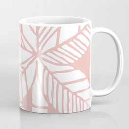 Tropical Palm Tree Composition Dusty Rose Coffee Mug