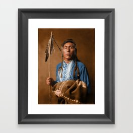 Tries His Knee - Crow American Indian Framed Art Print