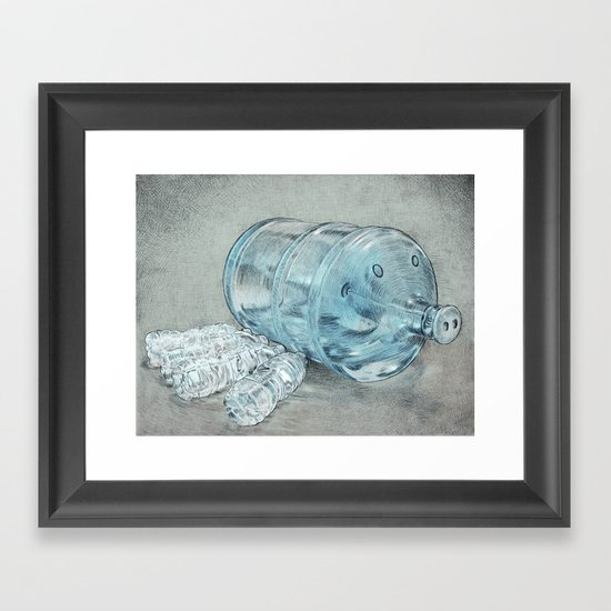Water Hog Framed Art Print