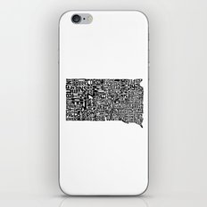 Typographic South Dakota iPhone Skin