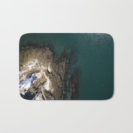 Maine Winters at the Coast  |  Drone Photography Bath Mat
