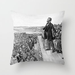 President Lincoln Delivering The Gettysburg Address Throw Pillow