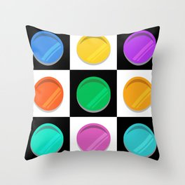 9 Plates Throw Pillow