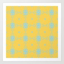 Ornament Yellow Art Print