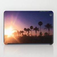 coachella iPad Cases featuring Coachella Sunset by Laura Hanson