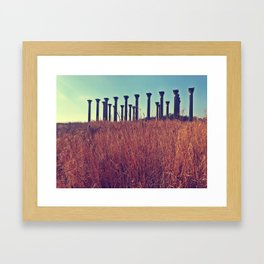 National Columns in Autumn Framed Art Print