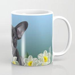 French Bulldog in Daffodils Field Coffee Mug