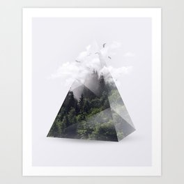 Forest triangle Art Print