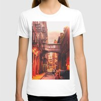 new york city T-shirts featuring New York City Alley by Vivienne Gucwa