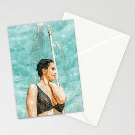 Bathe #painting #illustration Stationery Cards