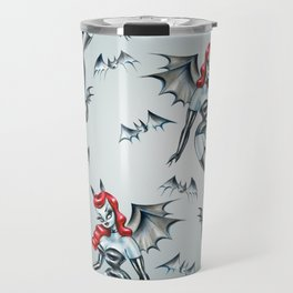 Vampire Bat Pinup Girl Travel Mug